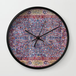 Kashan Central Persian Rug Print Wall Clock