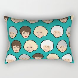 Golden Girls Green Pop Art Rectangular Pillow