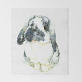 Fluffy Bunny Throw Blanket