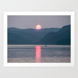 Sunset over the Fjord du Saguenay Art Print