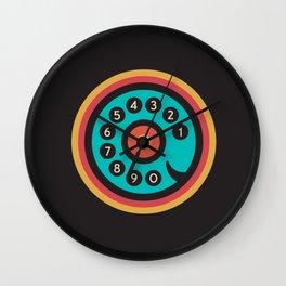 Retro Phone Wall Clock