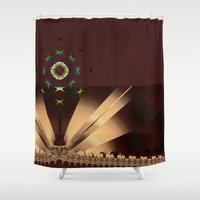 concert Shower Curtains featuring Starlight Concert by Jim Pavelle