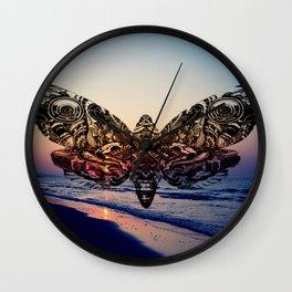 Summer Butterfly Wall Clock