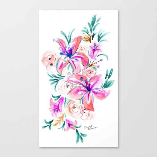 Summer Lily Floral Canvas Print