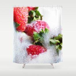 Strawberry Spores Shower Curtain