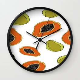Papaya fruit pattern Wall Clock