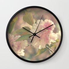 Vintage Blossoms Wall Clock
