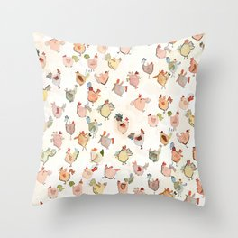 Poultry Paradise Throw Pillow
