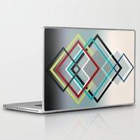 diamonds Laptop & iPad Skins featuring Diamonds by AJJ ▲ Angela Jane Johnston