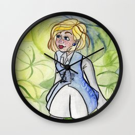 Alice in the Fern Forest Wall Clock