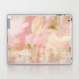 Rustic Gold and Pink Abstract Laptop & iPad Skin