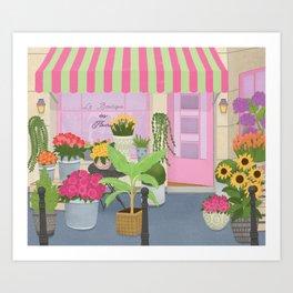 Boutique des fleurs Art Print