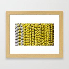 Yellow Beads Framed Art Print