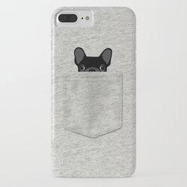 Pocket French Bulldog - Black iPhone Case