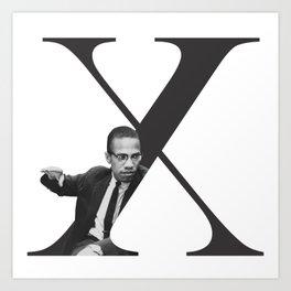 Malcolm X Typography Art Print