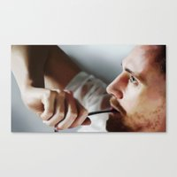 tom hiddleston Canvas Prints featuring Tom Hiddleston by Kate Dunn