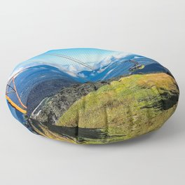 Cannon Mountain's Aerial Tramway Floor Pillow
