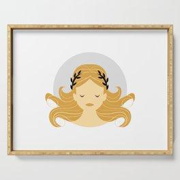 Virgo Zodiac Sign Symbol: The Maiden Serving Tray
