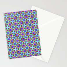Tribal patterns in rainbow colors Stationery Cards