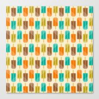 popsicle Canvas Prints featuring Popsicle by Liz Urso