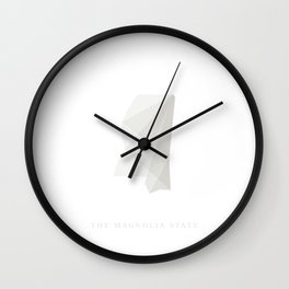 Mississippi, The Magnolia State Wall Clock