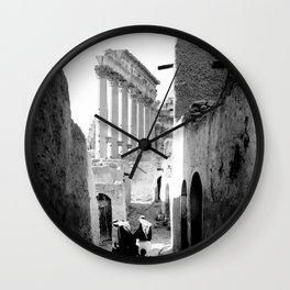 Palmyra, Street of village in Temple of the Sun. Wall Clock