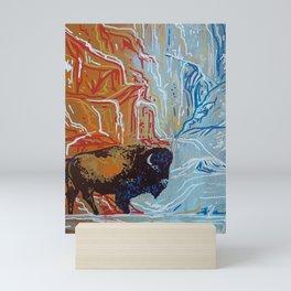 Yellowstone Bison Mini Art Print