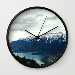 Mountains, Trees, Lakes Wall Clock