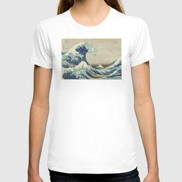 Great Wave Off Kanagawa (Kanagawa oki nami-ura or 神奈川沖浪裏) T-shirt