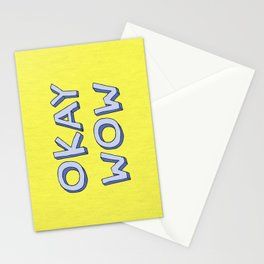 Okay wow Stationery Cards