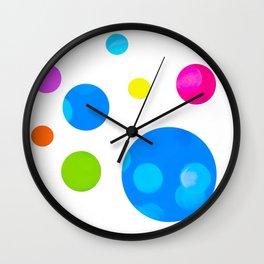 Colorful Bold Bubble Design Wall Clock