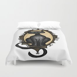 Familiar in Frame Duvet Cover