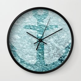 A Rising Anchor Wall Clock