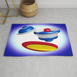 3D Forms & Colors Rug