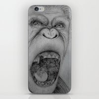 planet of the apes iPhone & iPod Skins featuring Planet of the Apes Pencil Drawing by Lucas Lepski