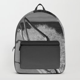 Sailing in the wind through the waves, Boat, Black and White photography #Society6 Backpack
