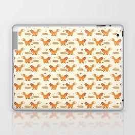 Red Fox & Hearts Pattern Laptop & iPad Skin