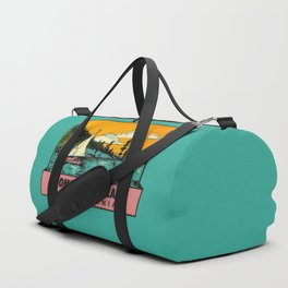 Vintage Retro Camping Promisedland Wanderlust Duffle Bag