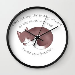 Cats occupy the empty corners. Wall Clock