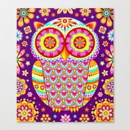 Colorful Owl Art Canvas Print