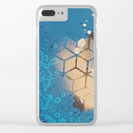 Cube Familiar Place - Made With Unicorn Dust by Natasha Dahdaleh Clear iPhone Case