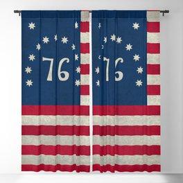 1776 Bennington flag - grungy Vintage Blackout Curtain