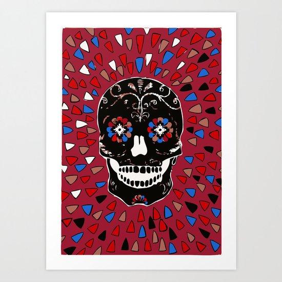SKULL NO CRY. Art Print