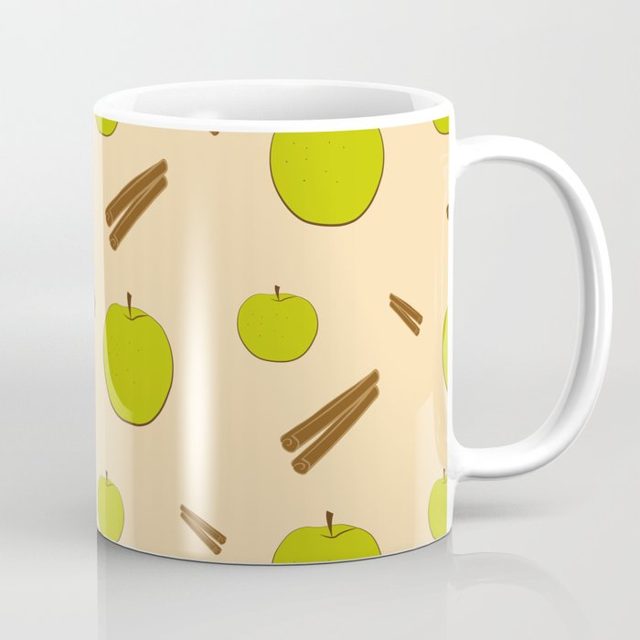Sweet pattern with apple and cinnamon Coffee Mug