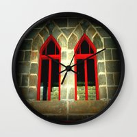 medieval Wall Clocks featuring Medieval Windows by Chris' Landscape Images & Designs