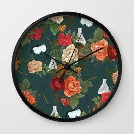 Chemistry Floral Wall Clock