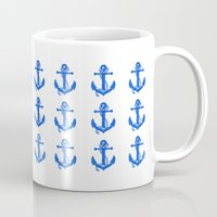 anchors Mugs featuring Anchors by Chilligraphy