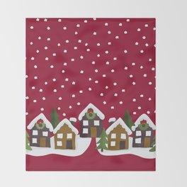 Winter idyll Throw Blanket
