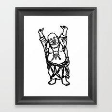 Laughing Buddha Framed Art Print