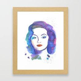 Bette Davis Watercolour Framed Art Print